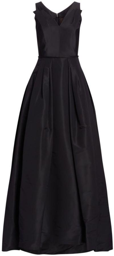 Carolina Herrera Flared Silk Gown