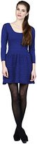 Phoebe Couture Phoebe Knit Ruffled Skirt Dress in Navy