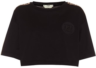 Fendi Cotton-jersey crop top