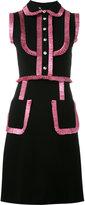 Gucci lurex ruffle trim dress - women - Viscose/Polyamide/Spandex/Elastane/Silk - XS