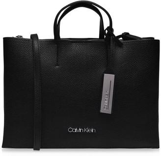 Calvin Klein Leather Sided Shopper Bag