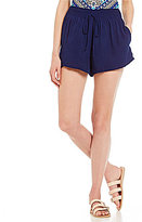 Soulmates Smocked-Waist Solid Wide Leg Shorts