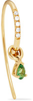 Yvonne Léon 18-karat Gold, Tsavorite And Diamond Earring