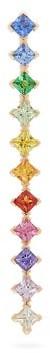 Diane Kordas Rainbow Crystal And 18kt Rose Gold Ear Cuff - Womens - Multi