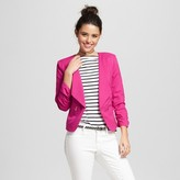 XOXO Women's Ruched Sleeve Drape Front Blazer Juniors')