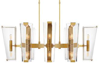 AERIN Alpine Linear Chandelier - Brass/Clear
