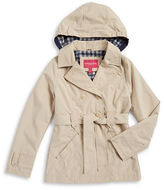 London Fog Girls 7-16 Hooded Trenchcoat