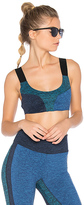 Free People Color Blocked Dylan Sports Bra in Blue. - size L (also in )