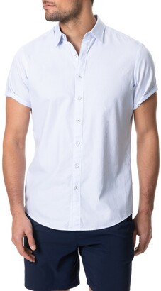 Rodd & Gunn Hurford Regular Fit Dot Short Sleeve Button-Up Shirt