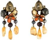 Iradj Moini Multistone & Pearl Clip On Earrings