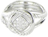 David Yurman Infinity 925 Sterling Silver Pave Diamond 0.16ct Ring Size 7