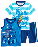 Nannette 3-Pc. T-Shirt, Tank Top & Shorts Set, Little Boys (4-7)