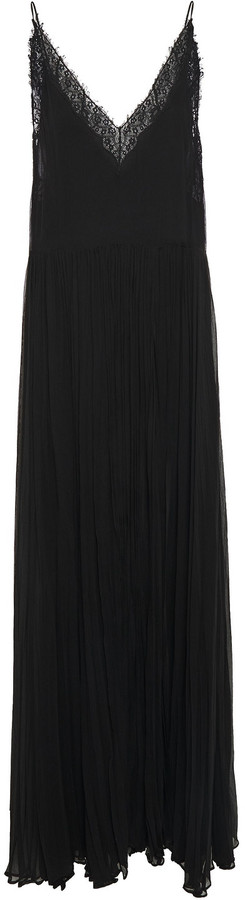 Jonathan Simkhai Lace-trimmed Silk-georgette Gown