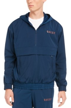 GUESS Men's Rebel Hooded Windbreaker