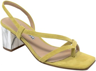 Charles by Charles David Charles David Leather Asymmetrical Low Heel Sandals - Clay