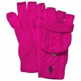 Ralph Lauren Pink Cable Knit Gloves