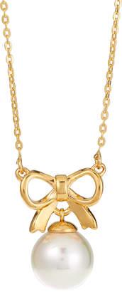 Majorica Pearl Bow Pendant Necklace