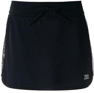 Track & Field Mesh Panel Skirt