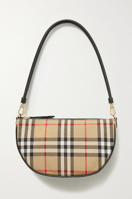 Burberry Checked Canvas Shoulder Bag - Beige