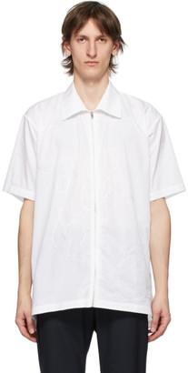 Cornerstone White Zip Short Sleeve Shirt