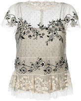 RED Valentino lace insert sheer blouse - women - Polyester - 40