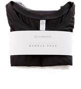 Alternative Luxe Cap-Sleeve Eco-Jersey Crew T-Shirt 3-Pk Bundle
