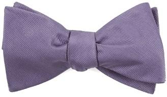 Tie Bar Grosgrain Solid Lavender Bow Tie