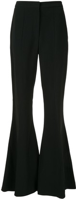 Carolina Herrera bell bottom trousers