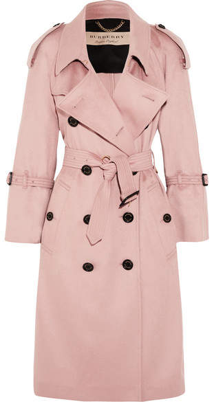 Burberry The Lakestone Cashmere Trench Coat - Pastel pink