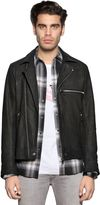 Diesel Washed Leather Biker Jacket
