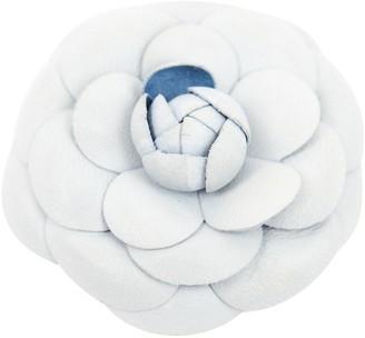 Chanel Camelia Blue Leather Bag charms