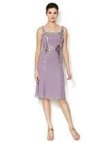 Carolina Herrera Silk Silver Baguettes Embellished Dress