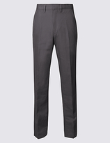 M&S Collection Tailored Fit Premium Linen Blend Trousers