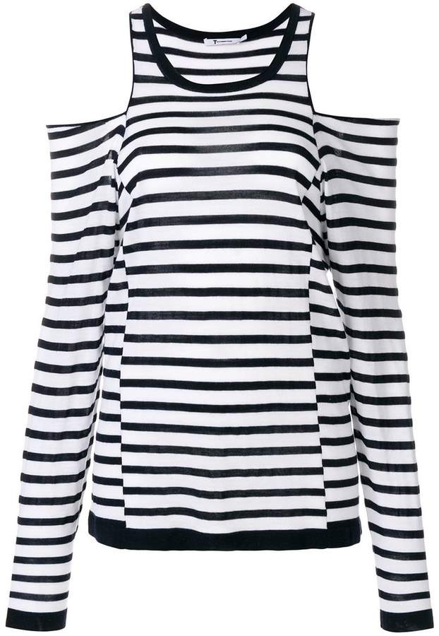 Alexander Wang dropped shoulders striped knit top