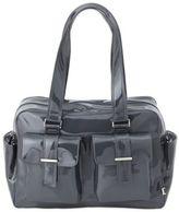 OiOi Patent Carry-All Diaper Bag in Gunmetal
