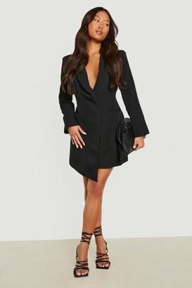 boohoo Petite Asymmetric Blazer Dress
