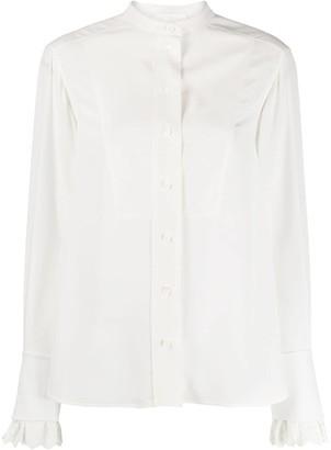 Chloé Scalloped Cuff Shirt