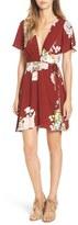 Astr Floral Print Plunge Dress