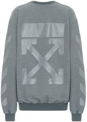 Off-White Logo cotton-blend jersey sweatshirt