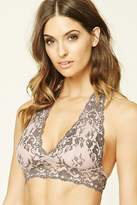Forever 21 Scalloped Lace Halter Bralette