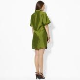 Ralph Lauren Textured Silk Shirtdress
