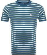Pretty Green Gordon Feeder Stripe T Shirt Blue