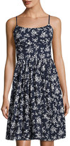Maggy London Spring Floral-Print Eyelet Dress, Blue Pattern