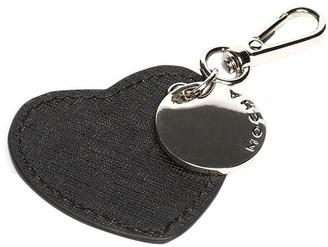 Ring Black Mocha Jane Leather Heart Key Ring - Black