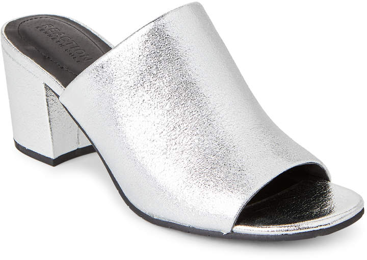 Kenneth Cole Reaction Silver Mass-Ter Mind Open Toe Sandals
