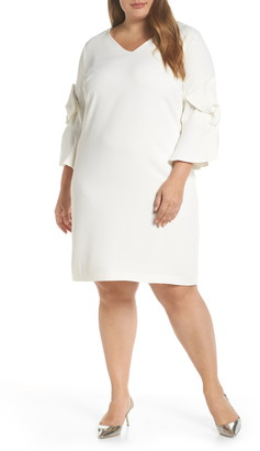 CeCe Moss Crepe Bow Shift Dress