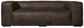 "Carmo Genuine Leather 96"" Round Arm Sofa 17 Stories"