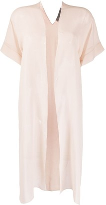 D-Exterior Lightweight Sheer Layering Top