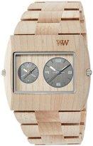 WeWood watch Wood / wooden JUPITER rs BEIGE Dual Time 9818071 Men's [regular imported goods]