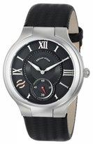 Philip Stein Teslar Men's 42-BK-BB Round Black Dial Ballistic Black Strap Watch